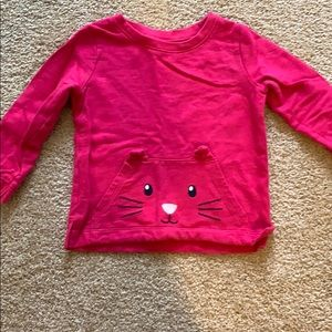 Longsleeved shirt with Cat face pocket